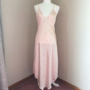Long pastel pink  chemise by Victoria's Secret